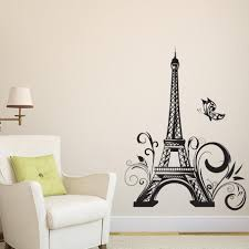 Eiffel Tower Paris Modern Colorful Wall Art Removable Vinyl Decals Nordicwallart Com