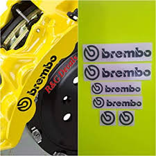 Amazon Com Brembo Brake Caliper High Temp Decal Sticker Set Of 4 Black Everything Else