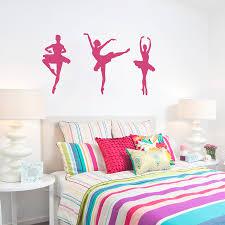 Removable Ballerina Trio Wall Stickers Wallums