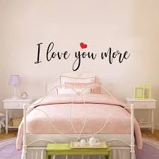 I Love You More Heart Wall Sticker Bedroom Couple Room Family Love Quote Valentines Day Wall Decal Vinyl Decor Wall Stickers Aliexpress