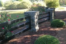 Buckley Fence Llc Photo Gallery Front Yard Fence Brick Fence Fenced In Yard