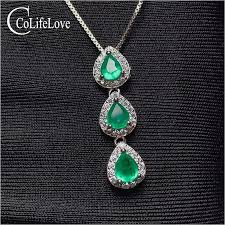 real emerald pendant for daily wear 3