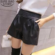 shorts women high waisted black