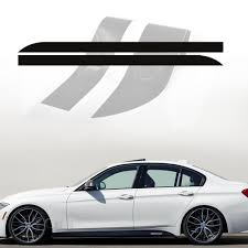 2 Colors M Performance Side Skirt Stripe Car Sticker Body Decal For Bmw 3 Series F30 F31 M Sport Packet Car Stickers Aliexpress