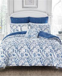 laura ashley elise china blue duvet set