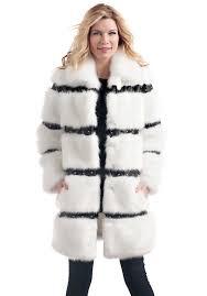 white mink faux fur coat