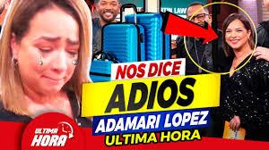 🔔 ¡ 𝗗𝗲 𝗨𝗹𝘁𝗶𝗺𝗼 𝗠𝗼𝗺𝗲𝗻𝘁𝗼 🔥 𝗙𝘂𝗲𝗿𝘁𝗲𝘀 𝗦𝗼𝘀𝗽𝗲𝗰𝗵𝗮𝘀  de Que Adamari Lopez 𝗟𝗲 𝗘𝘀𝘁𝗮 𝗣𝗮𝘀𝗮𝗻𝗱𝗼 𝗘𝘀𝘁𝗼 ! 🛑😱 - YouTube