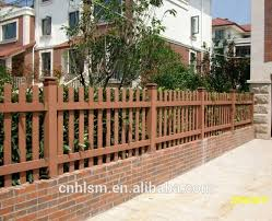 Fences For Terraces Balcony Fence Wpc Wood Plastic Composite Fence Garden Buy High Quality Decorative Garden Fence Small Wooden Fence Garden Lightweight Garden Fencing Product On Alibaba Com