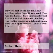 amber heard my very best friend died quote chimps