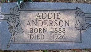 ANDERSON, ADDIE - Crawford County, Arkansas   ADDIE ANDERSON - Arkansas  Gravestone Photos