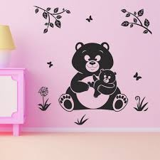 Mother Bear Wall Decal Animals Wall Decal Cute Baby Wall Etsy