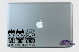 You Can T Sit With Us Villain Evil Queen Ursula Maleficent Mean Girls Laptop Macbook Car Window Vinyl Decal Sticker