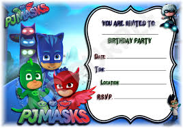 Pj Masks Printed Invitations Announcements Ebay Home F