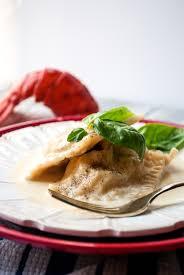 Lobster Ravioli with Garlic Cream Sauce ...