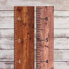 Amazon Com Divine Walls Vinyl Growth Chart Decal 6 5 Tall Diy Ruler Decal Kit Kids Height Ruler Measuring Tape Sticker Matte White 6 5in Wide X 6 5ft Tall Home Kitchen