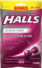 sugar free black cherry flavor cough drops