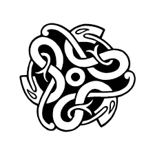 Celtic Knot Snake 2 Vinyl Sticker