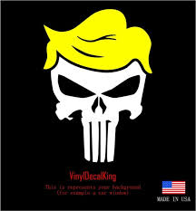 Trump Punisher With Hair Window Decal Bumper Sticker Funny Pro Usa Nra 2a Maga For Sale Online Ebay