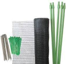 Deer Fence Kit Deer Net Folded Poles Sod Staples And Ties To Protect From Deer