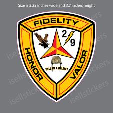 2nd Battalion 9th Marines 2 9 Bumper Sticker Vinyl Window Decal