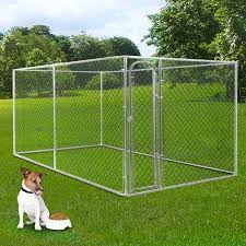 3 Size Large Dog Kennel Pet Enclosure Run Fence Playpen Outdoor Metal Cage Crazy Sales