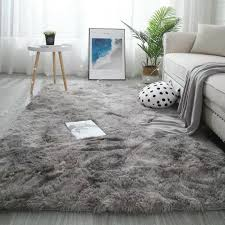 Hot Sale 32af59 Long Hair Soft Carpet Tie Dyeing Plush Rug For Kids Room Living Room Bedroom Decoration Non Slip Mat Water Absorbing Rugs Cicig Co