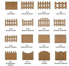 Wood Fencing Different Styles Of Wood Fencing