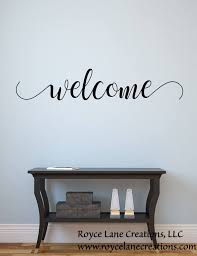 Vinyl Welcome Decal Welcome 200 Welcome Wall Decal Welcome Etsy