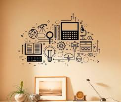 Computer Technology Wall Decal Vinyl Sticker Science Education Home Interior Classroom Art Decor 29nsc In 2020 Vinyl Wall Decals Computer Technology Wall Decals