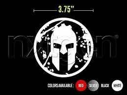 2x Spartan Helmet Race Gladiator Ocr Sticker Vinyl Decal Ebay
