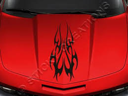 Design 116 Hood Tribal Flame Decal Sticker Vinyl Graphic Car Truck Sticky Creations