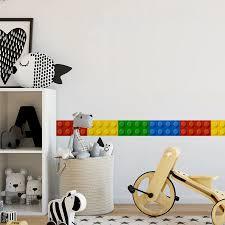 Funlife Blocks Decorative Wall Sticker Borders For Kids Self Adhesive 3d Wallpaper Borders Children Classroom Bedroom Wall Decor Wall Sticker Home Decorstickers Wall Stickers Aliexpress