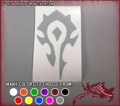 6 Hoard Vinyl Sticker Wow World Warcraft Car Window Decal Alliance Orc Wod Ebay