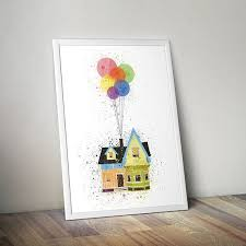 disney pixar up inspired minimalist art