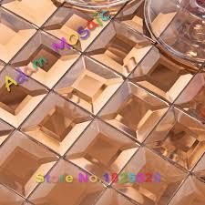 copper beveled glass mosaic tiles