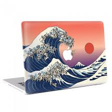 The Great Wave Of Pug Macbook Skin Decal