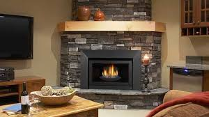 frameless gas fireplace insert with