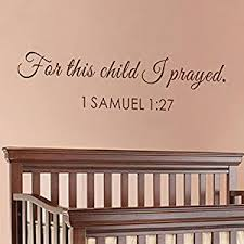 Buy For This Child I Prayed Scripture Wall Decal Nursery Wall Decal Bible Verse Christian Wall Decal Nursery Art Black Medium In Cheap Price On Alibaba Com