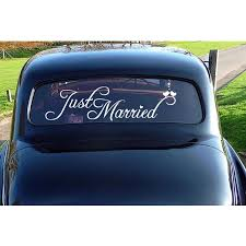 Just Married Wedding Car Decal Sticker Window Banner Decoration Self Adhesive Decals Removable Lovely Sign Wedding Decor G211 Wall Stickers Aliexpress