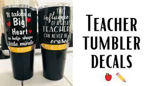 Teacher Tumbler Decals Teacher Appreciation Week How To Apply A Decal On A Tumbler Youtube