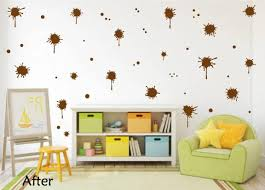 Brown Paint Splatter Decal Paint Splat Wall Decal Whimsi Decals Whimsidecals