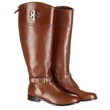 Tory Burch Shoes | Adeline Brown Leather Riding Boots | Poshmark
