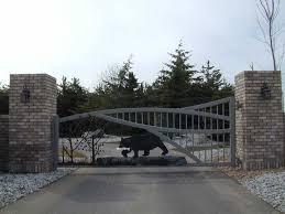 Ornamental Gate Fence Powder Coated Steel Wrought Iron Entrance Gates