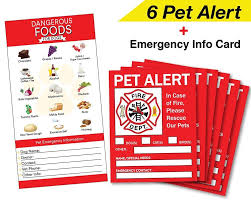 Pet Alert Safety Fire Rescue Sticker 5 X 4 Save Our Pets Emergency Pet Inside Decal In Case Of Emergency Danger Pet Emergency Dog Emergency Beloved Dog