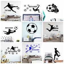 Hot Sale 8acd5d Football Custom Name Of Soccer Wall Sticker For Kids Room Decor Boys Children Room Decor Vinyl Decal Removable Mural Decals Cicig Co