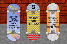 Pb Skateboard Skateboard Party Skateboard Party Invitation