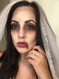 easy zombie bride halloween makeup