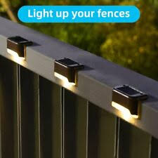 4 Pack 2 Led Solar Power Garden Lights Outdoor Fence Wall Mount Lamp Light Us For Sale Online Ebay