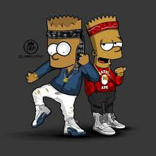 hip hop bart simpson wallpapers top
