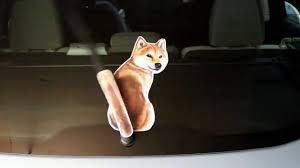 Shiba Inu Dog Wagging Wiper Car Decal Sticker Youtube